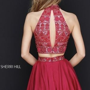 Sherri Hill Dresses - Short Two-Piece Sherri Hill Dress with Beaded Top